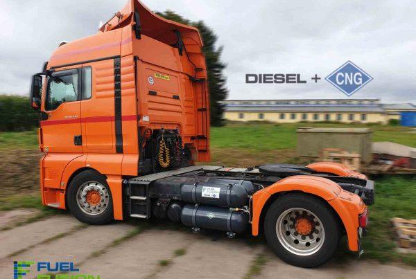 MAN TGX 440 Euro 6 Diesel CNG duální pohon nafta a CNG se systémem Fuel Fusion
