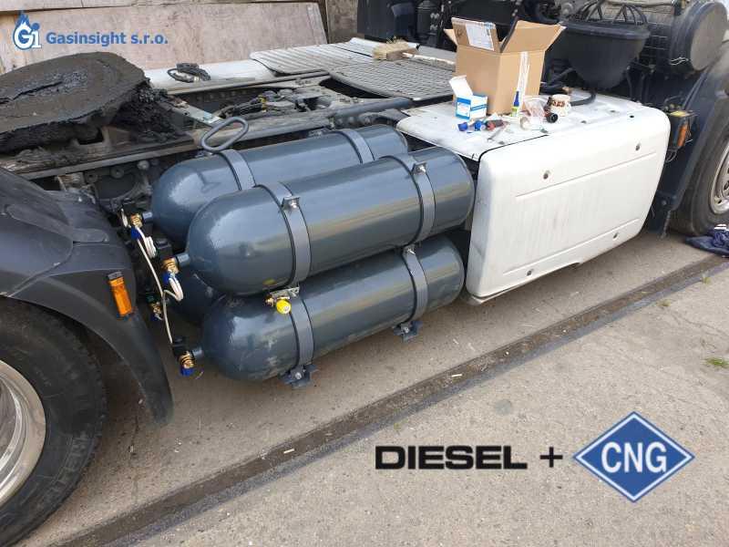 Montáž Diesel CNG - duálního systému pro nákladní automobily na naftu a CNG