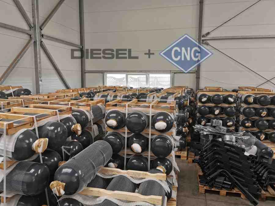 Diesel CNG - máme skladem zásobu nádrží CNG pro všechny varianty montáže