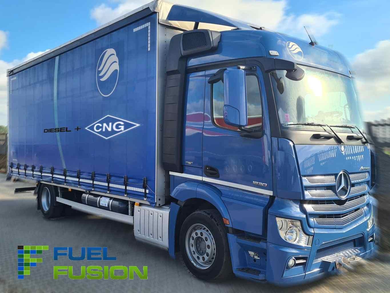 Mercedes Actros 1830L Euro 6 valník Diesel CNG