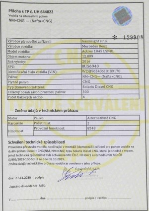 Solaris Diesel CNG příloha k TP