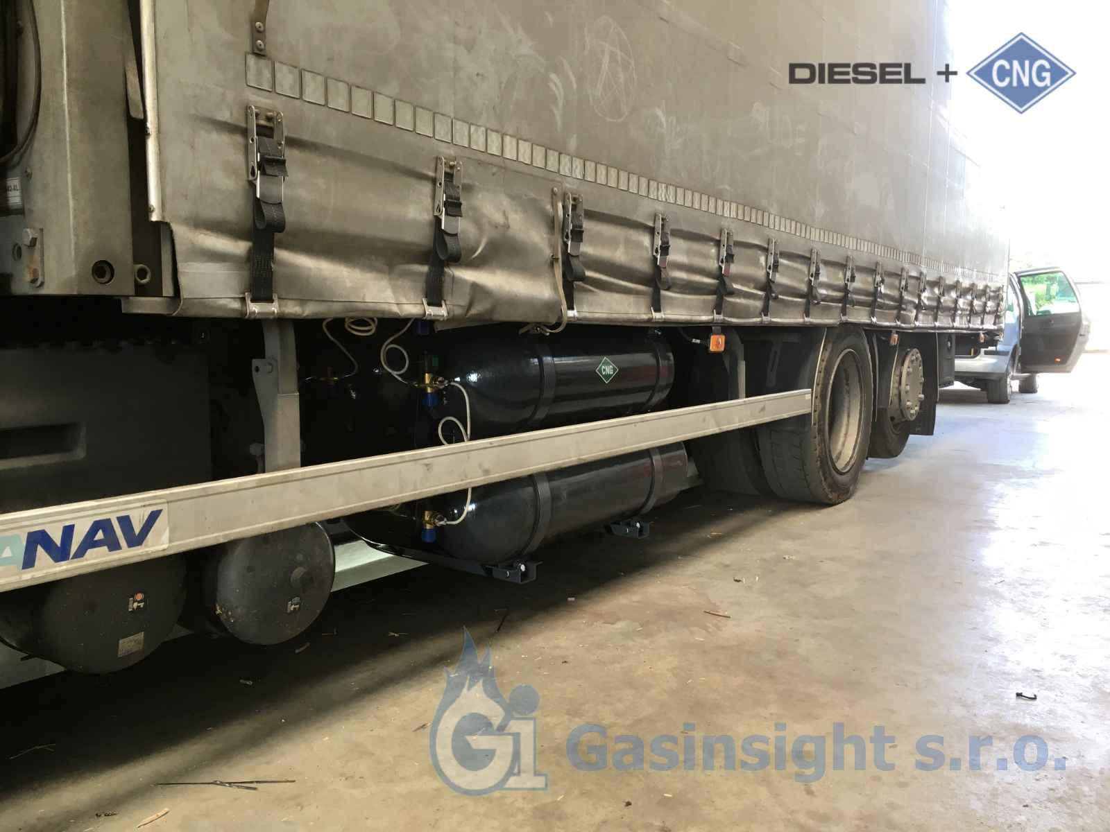 Renault T 480 truck Euro 6 Tandem přestavba na duální pohon Diesel CNG