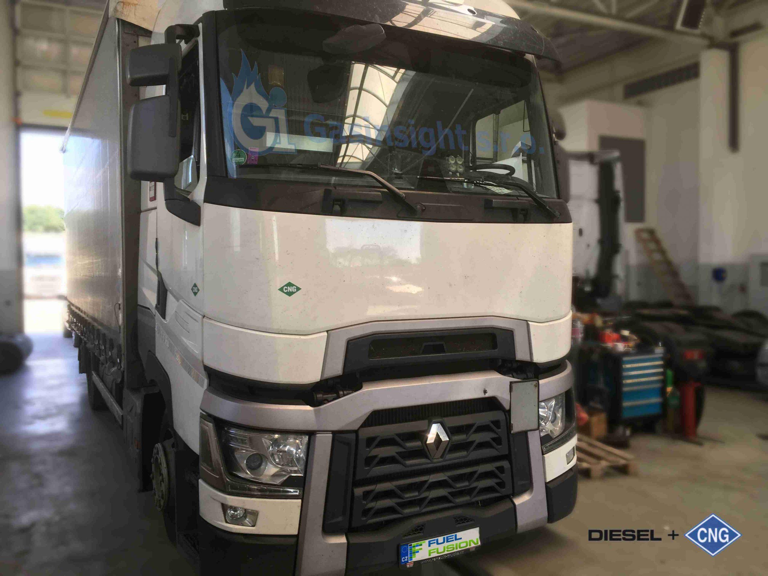 Renault T 480 Euro 6 Tandem Diesel CNG Dual Fuel