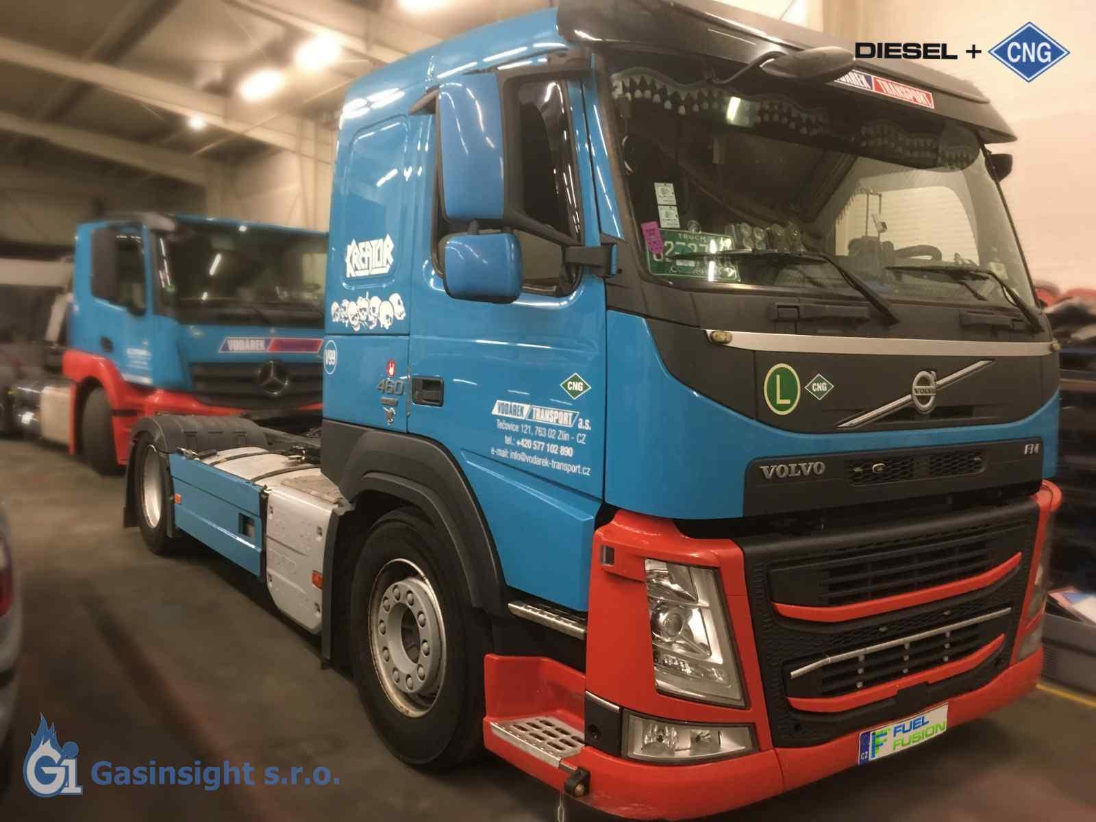 Volvo FM 480 LOHR dual fuel diesel cng