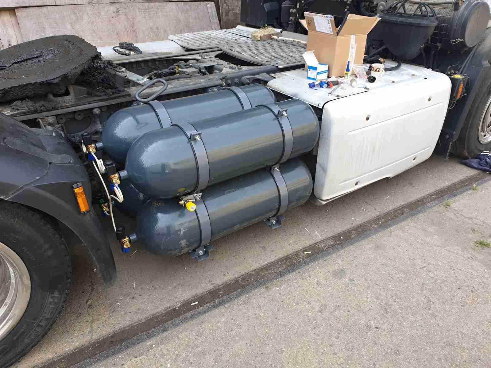 Montáž nádrží CNG na vozidlo DAF XF 106